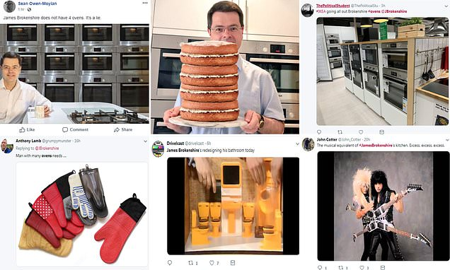 James Brokenshire gets roasted on Twitter over four ovens