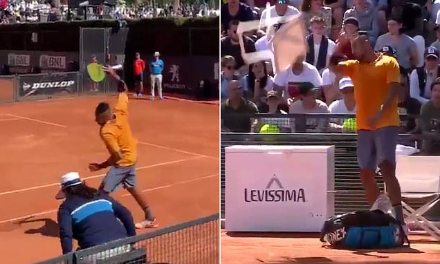 Nick Kyrgios kicked out Italian Open after he threw chair onto court