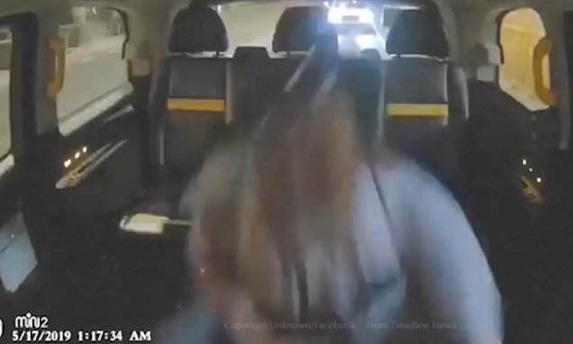 London taxi driver ends row with passenger by slamming on the brakes