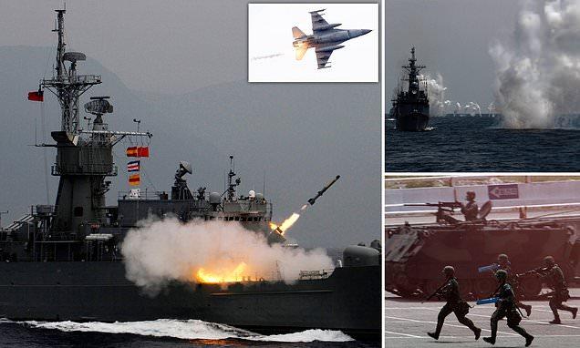 Taiwan holds massive military drill simulating Chinese invasion