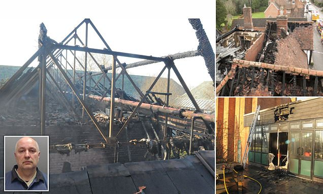 Arsonist drove teacher into hiding and burned down Cheshire school