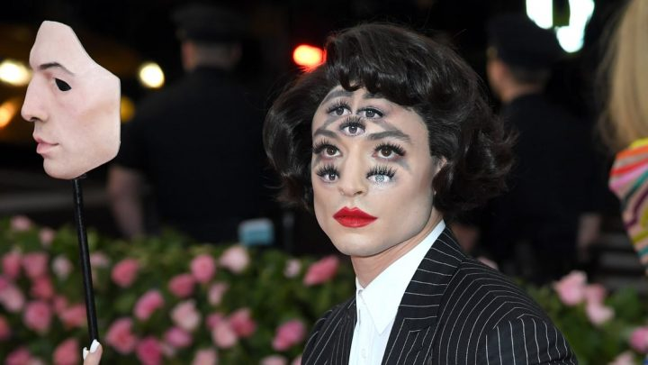 Ezra Miller Should Be Renamed Extra Miller After His Met Gala Makeup