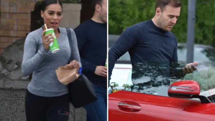 Coronation Street's Alan Halsall and Tisha Merry pictured together grabbing lunch after the gym – but STILL deny they're dating