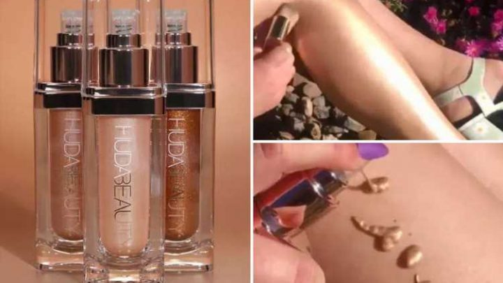 Women rave about Huda Beauty's liquid highlighter that gives the illusion of wearing tights