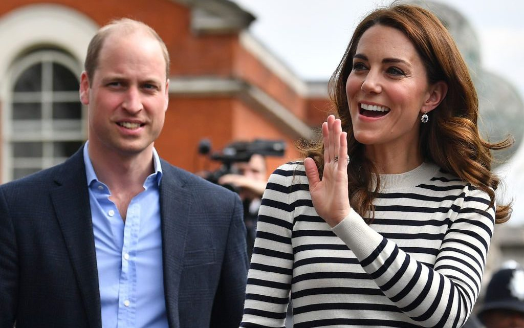 Prince William and Kate Middleton Family Garden Fun: Prince Louis Walking While George and Charlotte Explore
