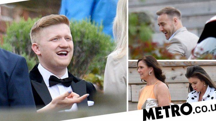 Coronation Street's Sam Aston beams away on wedding day as co-stars celebrate