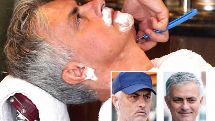 Mourinho cuts lonely figure as he enjoys luxurious beard trim at posh Chelsea barbers