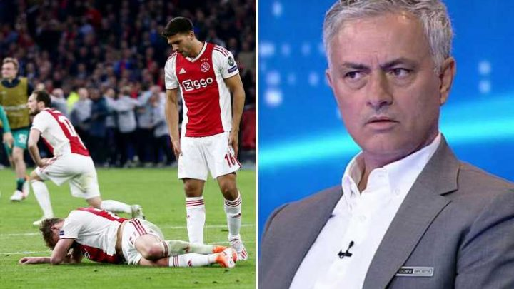 Brutal Jose Mourinho slams Ajax's tactics after blowing 3-0 aggregate lead in astonishing second half collapse