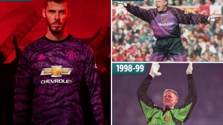 Man Utd gaffe as new keeper kit nod to 1999 Treble winners is from WRONG year