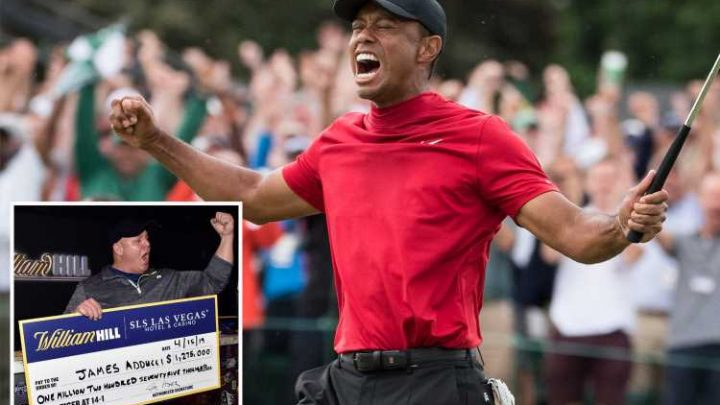 Fan who won £975,000 on Tiger Woods with Masters bet stakes £77k on him to win Grand Slam at 100-1