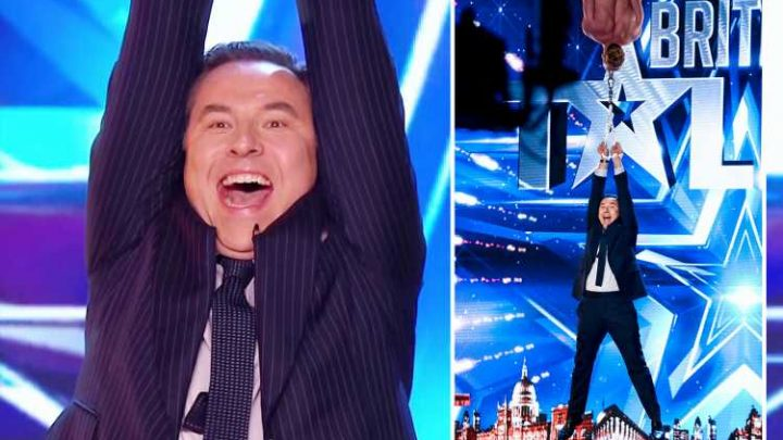 Britain Got Talent's fans gobsmacked as aerial dancer lifts David Walliams up using just his TEETH