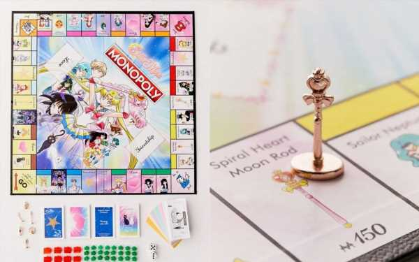 This Sailor Moon Monopoly Board Is A Sparkly Pink '90s Baby Dream