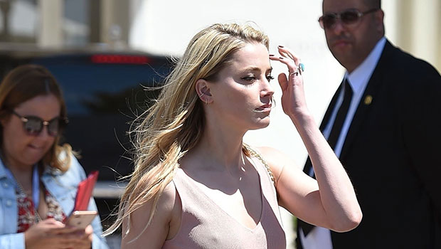 Amber Heard Steps Out Without A Bra In Sheer Shirt In Cannes As Johnny Depp Battle Rages On