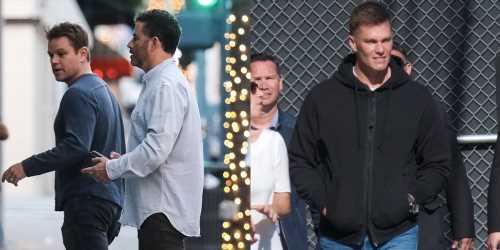 Jimmy Kimmel & Matt Damon Grab Dinner With Tom Brady After Wrapping 'Jimmy Kimmel Live!' Shoot