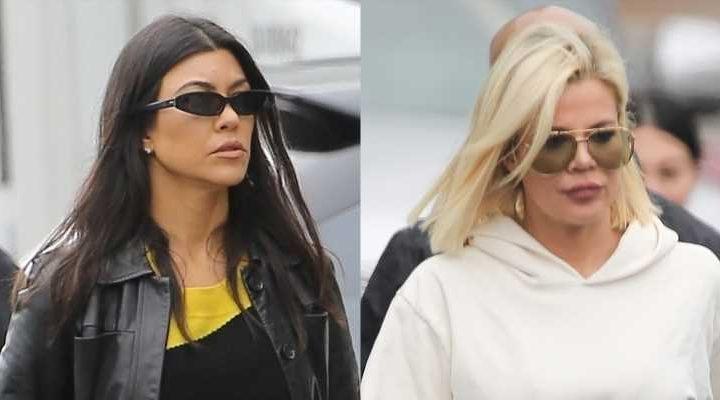 Kourtney & Khloe Kardashian Step Out for Kanye West's Sunday Service
