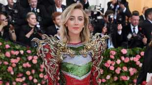 Saoirse Ronan Looks Ready For Fashion Battle With Sequined, Armor-Inspired Gown At Met Gala