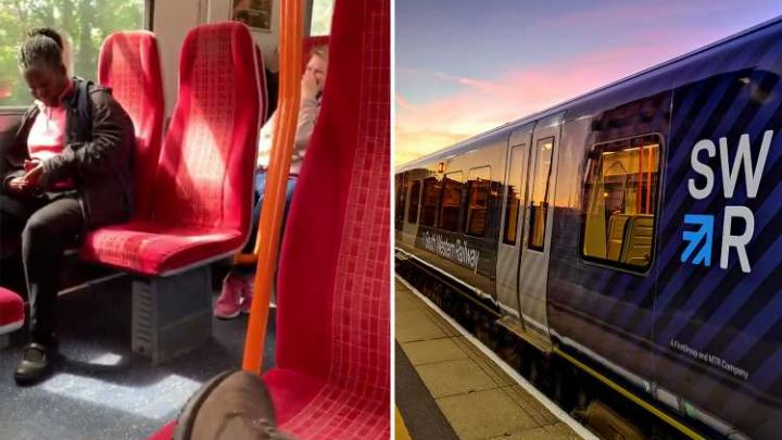 Hilarious moment PORN is played on South Western Railway train loudspeaker after tannoy is left on