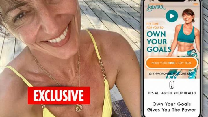 Davina McCall flogging diet and fitness secrets for £14.99 a month on new online lifestyle website OwnYourGoalsDavina.com launching today