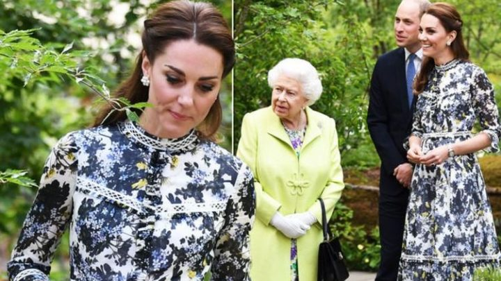 Kate Middleton and the Queen attend Chelsea Flower Show with Duchess in a £12k outfit