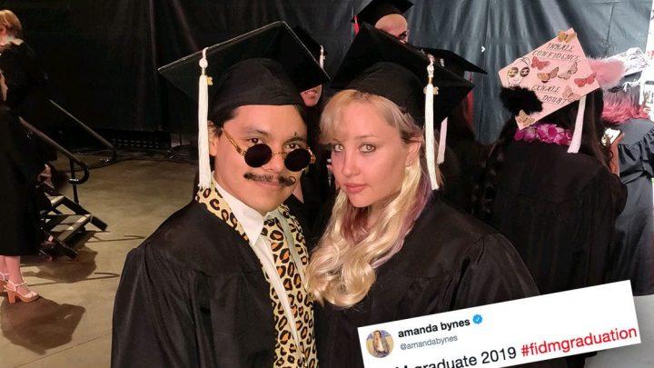 Amanda Bynes Graduates from Fashion Institute of Design & Merchandising