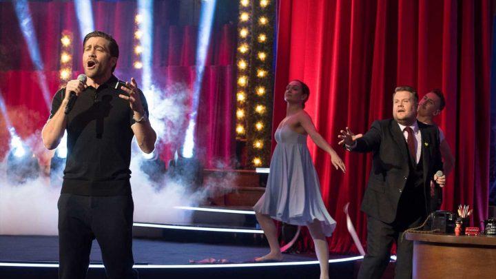 Jake Gyllenhaal sings James Corden's Whitney Houston parody