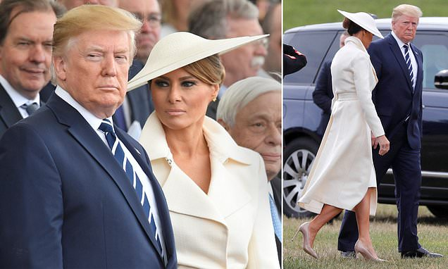 Melania Trump opts for chic neutral shades for D-Day commemorations