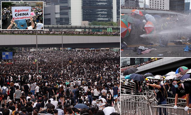 Demonstrators paralyse Hong Kong in protest against extradition law