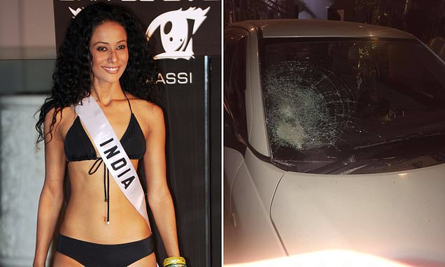 Beauty queen attacked by a gang after filming an attack on Uber driver