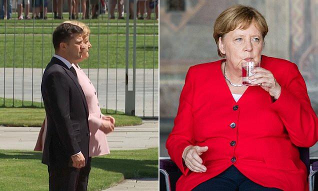 Angela Merkel looks healthy after sparking health concerns