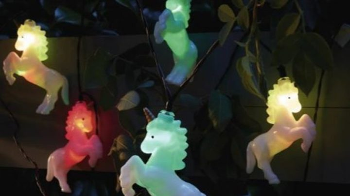 Asda sells unicorn fairy lights that add a touch of magic to gardens