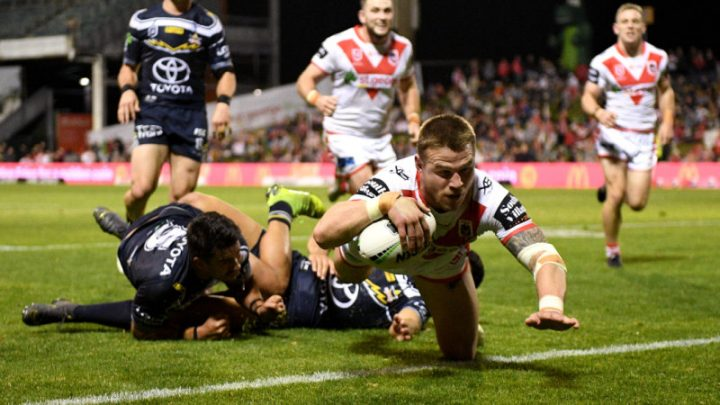 Green sees red over Sims hit  in Dragons win