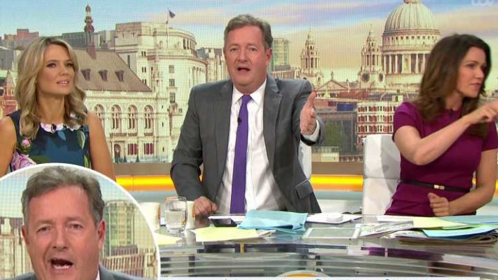 Piers Morgan claims men are an 'endangered species' in Good Morning Britain studio as he accuses show of sexism