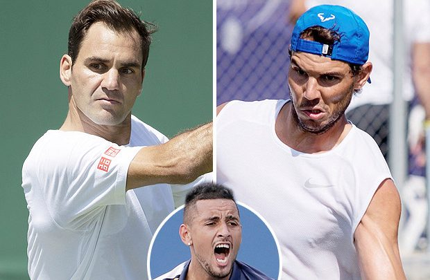 Federer and Nadal on course for Wimbledon semi-final showdown… but Rafa faces grudge match with Kyrgios first