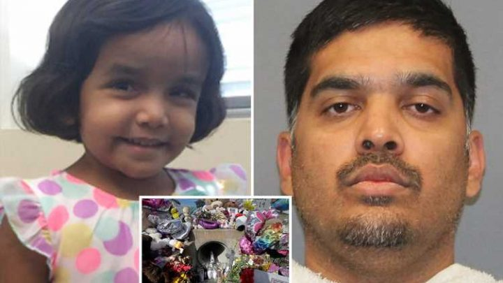 Monster dad jailed for life for killing daughter, 3, then trying to claim she'd choked to death on milk when body was found stuffed down drain