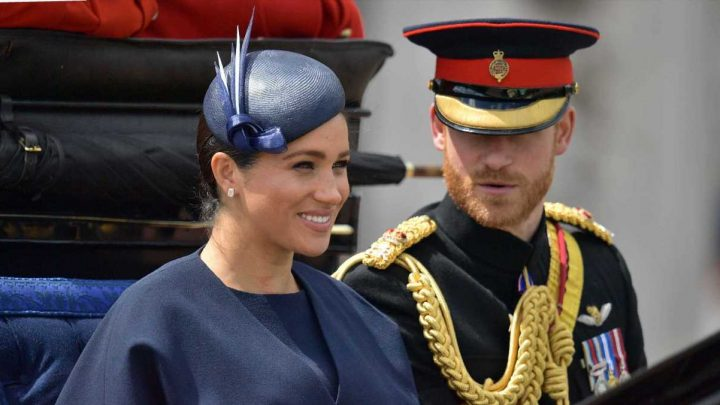 Prince Harry Couldn't Stop Staring at Meghan Markle at Trooping the Colour