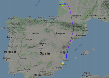Ryanair holiday jet from Alicante to Newcastle diverted to Bordeaux in mid-air medical emergency