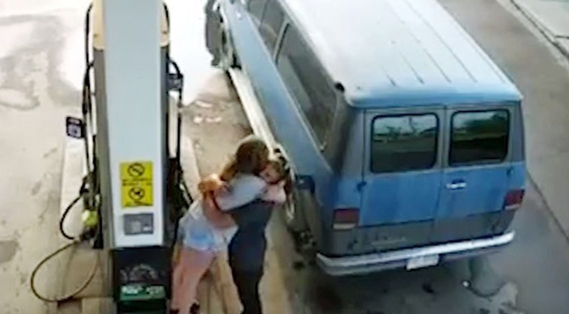 Canadian serial killer fears as CCTV shows final embrace of couple shot dead