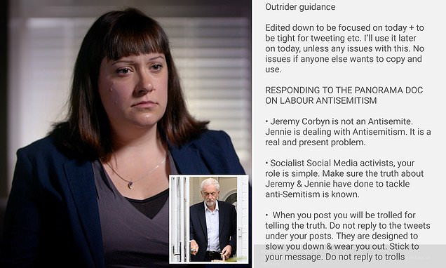 Manual urged Corbyn supporters were told to go online during Panorama