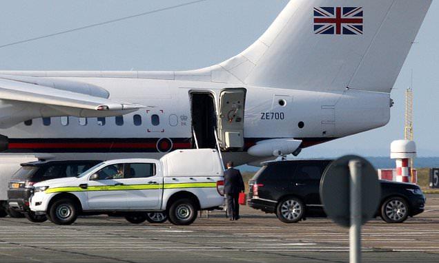Boris Johnson's plane makes detour to pick up mystery passenger