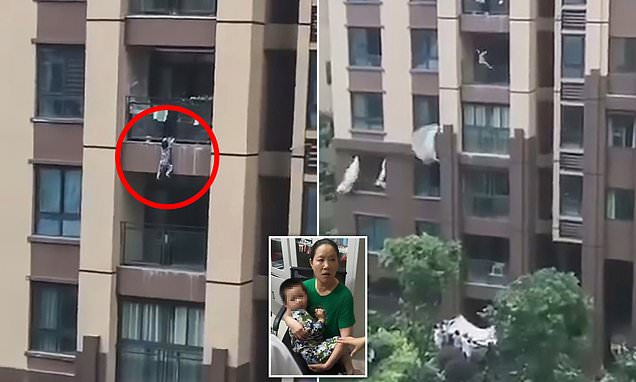 Boy falling from six-storey flat survives after neighbours catch him