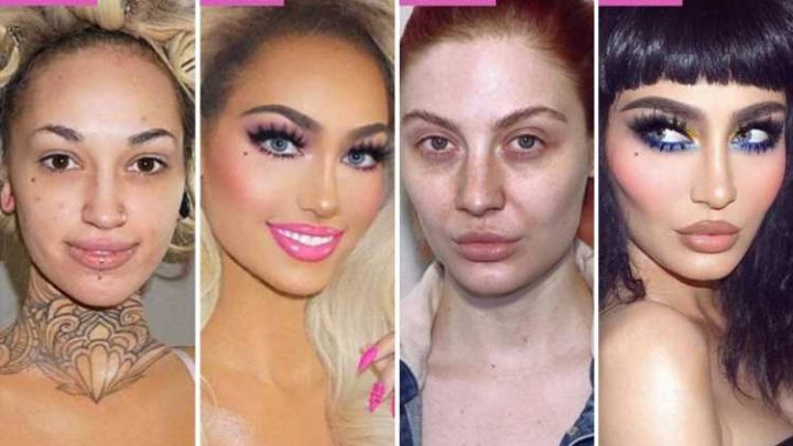 Women share their striking transformation photos showing what they look like before and after make-up – The Sun