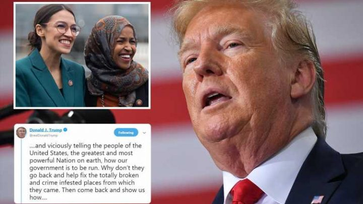 Donald Trump branded 'racist' for saying Democrat congresswomen should 'go back' to their 'crime infested' countries