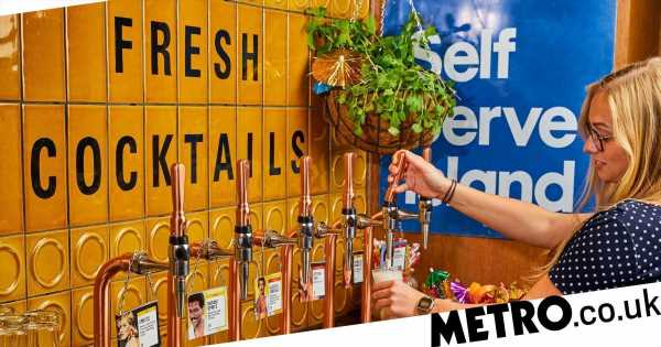 A self-service cocktail bar has launched in London