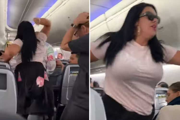 Passenger smashes laptop over 'boyfriend's' head on packed plane 'because he looked at other woman' – The Sun