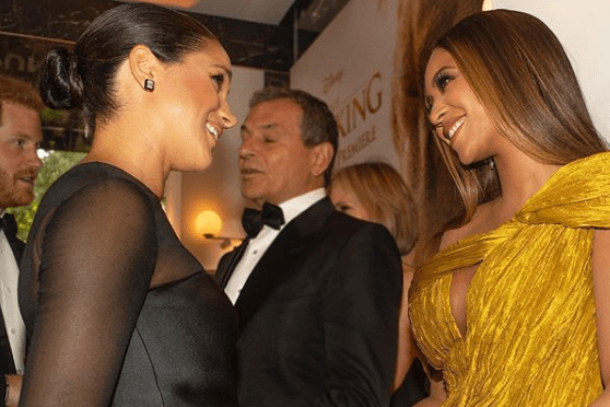 Beyonce shares an 'unseen' snap of the moment she met Meghan Markle at The Lion King premiere – The Sun