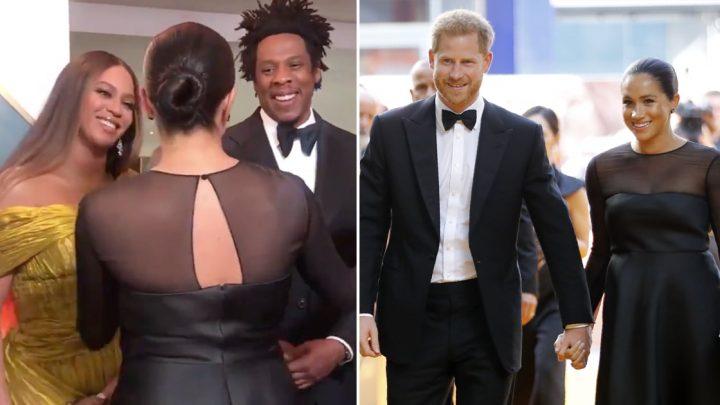 Beyoncé, Meghan Markle, and Prince Harry Turn The Lion King's UK Premiere Into a Royal Affair