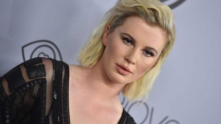 Ireland Baldwin poses nude in thong and heels on NYC balcony