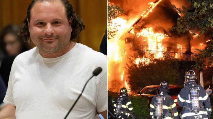 Accused arsonist caught on video setting rabbi's home ablaze: DA