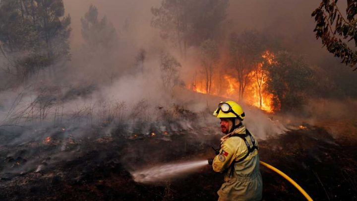 Villagers, firefighters battle massive wildfires in Portugal