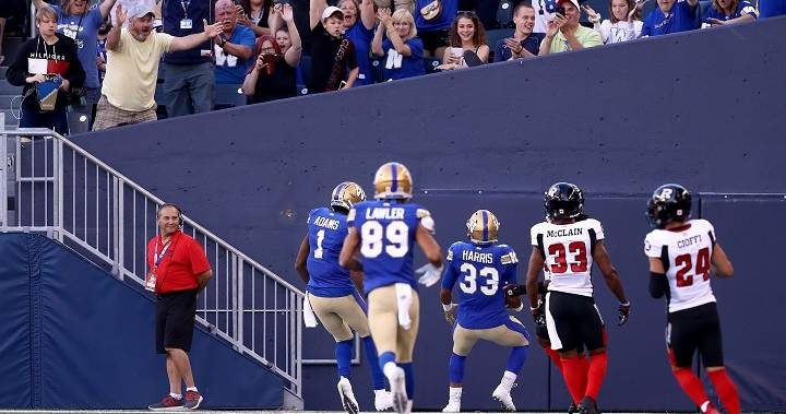 Winnipeg Blue Bombers move to 5-0 after crushing Redblacks